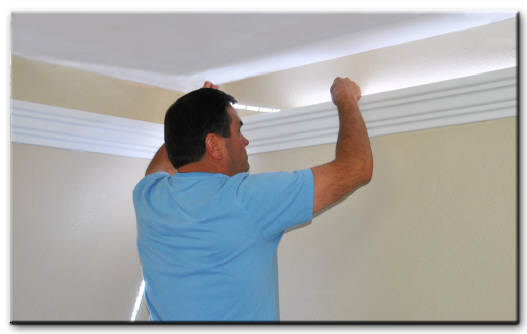Foam Crown Molding For Led And Rope Lighting